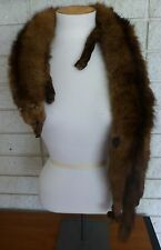 ROBERT WALLACE SAN FRANCISCO FOX NECK WRAP SCARF WITH TASSEL BROWN ANIMAL NICE