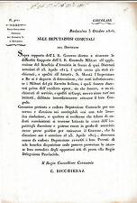 DOCUMENTO BARLASSINA MONZA BRIANZA AMNISTIA A DISERTORI MILITARI 1816  4-153