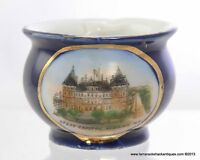 State Capitol Albany New York Blue German Handled Cup Antique Souvenir Marked