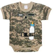 Infant One Piece Bodysuit Baby Soldier Uniform Shirt ACU Digital Camo 67096