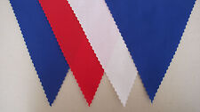Harry & Megan Royal Wedding Party Fabric bunting Flags RED WHITE & BLUE homemade