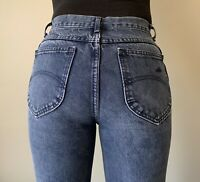 CHIC Vintage 80s High Waist Slim Fit Tapered Leg Denim Jeans Women's 26x27