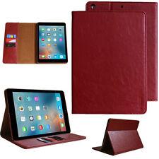 Premium Echt Leder Cover für Apple iPad 2 3 4 Tablet Schutzhülle Case Tasche rot