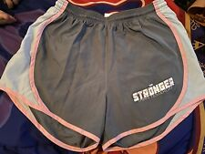 Ladyboss Gray And Pink Exercise Shorts Size Medium *preowned* Worn Once!