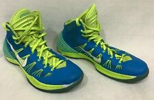 MENSNIKE iD HYPERDUNK BLUE GLOW VOLT GREEN BASKETBALL SHOES 11.5 M