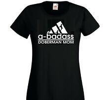 Doberman Dog T Shirt Lady-Fit Doberman Mom