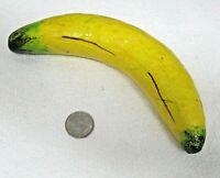 Yellow Banana Paper Mache Mexican Vegetable Fruit Vintage Decor Folk Art