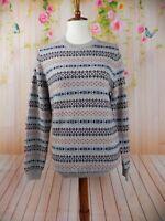 Brooks Brothers Fleece Womens Fair Isle LS  Merino Wool Sweater large