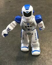 Smart Robot R/C Blue And White Color Programing Commands Recharging Toy