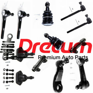 12PC Steering Kit Idler Pitman Tie Rod Ball Joint For R10 C10 C1500 Fits 83-87