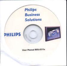 NEW PHILIPS BDL4211x PLASMA TV CD-ROM USER MANUAL AV LCD WXGA Support Accessory