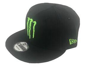 Monster Energy - New Era - 9fifty Snapback - Cap Hat - Solid Black/Green