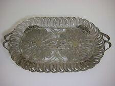 Vintage Ronac Handicraft Persian Silverplate Wire Filigree Vanity Lace Oval Tray
