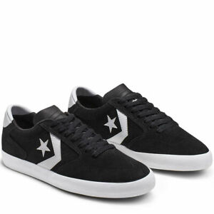Converse Mens Checkpoint Pro Ox Low Top Suede 165265C Black/White NWB