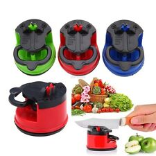 Suction Knife Sharpener Secure Pad Grinder Scissors Sharpening Color Random
