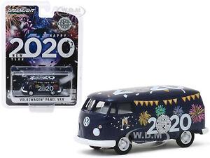 """VOLKSWAGEN PANEL VAN """"NEW YEAR 2020"""" 1/64 DIECAST MODEL BY GREENLIGHT 30125"""