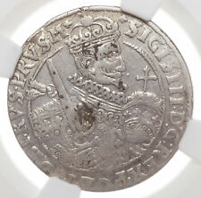 POLAND. Sigismund III, Silver 1/4 Taler (Ort), 1622, NGC XF Details