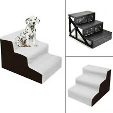 New listing Pet Dog Ladder 3 Steps Soft Stairs Puppy Warm Washable Cover Ramp Foldable Doggy