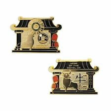 Year of the Metal Ox Geocoin Geocaching Official Trackable