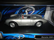 Maisto Porsche 550A Spyder Silver 1/18