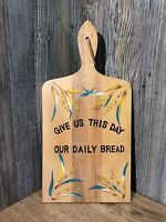 Vintage Kitchen Cutting Bread Board Hand Painted Made In Japan, Clean B7