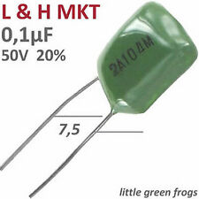 20 Stück MKT Folienkondensator 0,1µF 50V 20% RM-7,5 Neuware aus Lageraltbestand