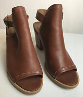 Frye Women's Brown Leather Heeled Sandals Size 11M