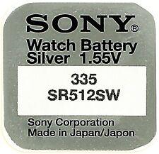 12 X sony 335 V335 Watch Battery Button Cell SR512SW Silver 1.55 V Md