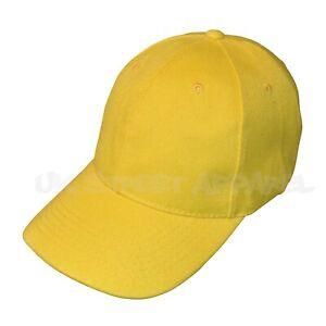 Yellow Adjustable Baseball Cap