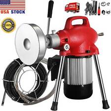 """3/4"""" - 4""""Sectional Pipe Drain Auger Cleaner Machine Snake Sewer Clog 8Cutter500W"""
