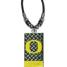OREGON DUCKS  NECKLACE ROPE DIAMOND PLATE NCAA OFFICIALLY LICENSED