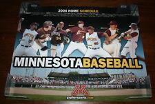 2004 Minnesota Gophers Baseball Schedule Glen Perkins 20x16 Poster
