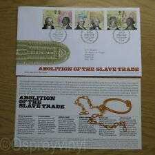 Abolition Slave Trade 22.3.2007 FDC Mint + Insert Special Filthy Gold Watermark