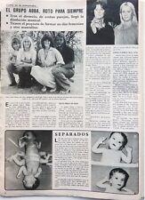 ABBA => 1 page 1981  Spanish CLIPPING !!! COUPURE DE PRESSE