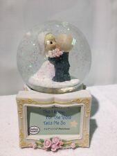 marrying couple music snow globe