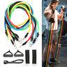 11pcs Yoga Bandas de resistencia fitness Tracción Entrenamiento Gimnasio Fuerza