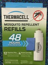 ThermaCell Mosquito Repellent 48 Hr Refill Pack 4 Butane Refill & 12 Mats R4 NEW