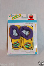 NEW IN BOX SESAME STREET OSCAR  BOOTIES LARGE 12-18 MONTHS
