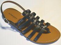 ZOR- LES TROPEZIENNES sandales cuir HERILO noir  EN PROMO !!!!