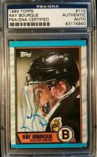 Ray Bourque 1989 Topps AUTO RC Signed Autograph PSA/DNA Authentic