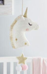 Mud Pie E1 Kids Nursery Baby Gold Unicorn Musical Pull 12000090G DEFECT