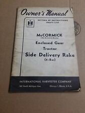International Harvester McCormick Deering Enclosed Tractor Side Delivery Rake