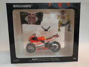 MINICHAMPS 1/12 ROSSI DUCATI DESMOSEDICI MOTO GP 11.2 2011  TRIBUTE TO MARCO FIG