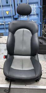 MERCEDES CLK W209 LEFT FRONT SEAT INTERIOR LEATHER COUPE 2 TONE GREY HEATED