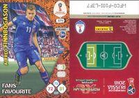 WC RUSSIA 2018 *Panini Adrenalyn-Card FANS' FAVOURITE  N.379*FINNBOGASON-ISLANDA