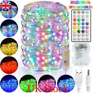 UK Smart RGBW LED Fairy String Copper Wire Light Party Christmas Decor 30-200LED