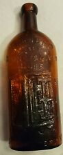 Vintage Warners Safe Kidney and Liver Cure Amber Bottle Rochester New York