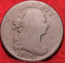 1800 Philadelphia Mint Copper Draped Bust Half Cent