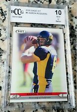 AARON RODGERS 2005 Sage #1 Draft Pick Rookie Card RC BGS BCCG 10 Superbowl MVP