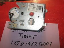 G.E. WASHER TIMER 175D1432G007 90 DAYS WARRANTY. FREE SHIPPING